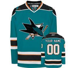 Sharks Personalized Authentic Blue NHL Jersey (S-3XL) Custom Hockey Jerseys 6cda5ced2