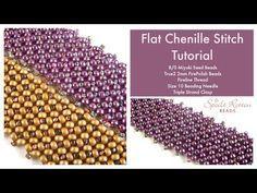 Flat chenille stitch ~ Seed Bead Tutorials