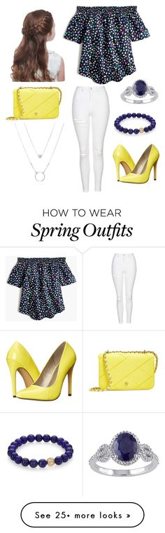 """Cute spring/fall outfit"" by natileebrendes on Polyvore featuring J.Crew, Topshop, Michael Antonio, Tory Burch and Sydney Evan"
