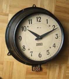 Industrial clock designed by Behrens for AEG in 1909