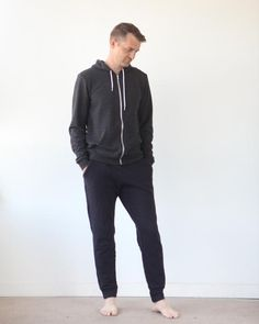 True Bias - Hudson Pant PDF Pdf Sewing Patterns, Handmade Clothes, French Terry, Skinny Legs, Dressmaking, Knits, Menswear, Sweatpants, How To Wear