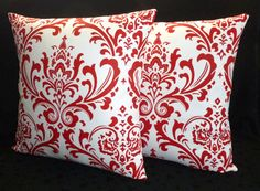 Decorative Accent Throw Pillow Covers  Two Red and by berly731, $39.99