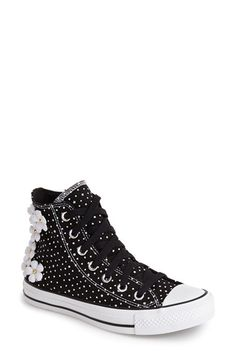 Converse Chuck Taylor® All Star® 'Floral Polka Dot' High Top Sneaker (Women) available at #Nordstrom