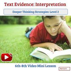 Text Evidence: Interpretation through Analysis... by Quality Counts | Teachers Pay Teachers