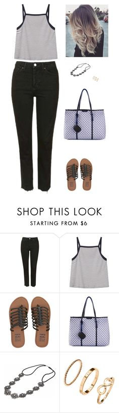 """""""Sans titre #7015"""" by youngx ❤ liked on Polyvore featuring Topshop, MANGO, Billabong, Emporio Armani and H&M"""