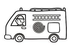 πυροσβεστικο όχημα σκιτσο - Αναζήτηση Google Watercolor Brushes, Fire Trucks, Coloring Books, Toys, Children, Illustration, Google, Kids, Vintage Coloring Books