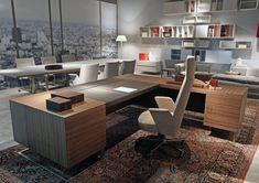Deck Leader executive desk, Large desk, wood and metal, ideal for executive office #executiveofficedesigns