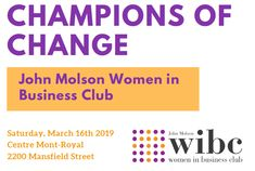 I am so excited to be part of the John Molson Women in Business Club's Annual Conference. This year's theme: CHAMPIONS OF CHANGE And with the great line-up of speakers and panelists, this important topic is sure to inspire, motivate, and empower! Diversity, Speakers, Business Women, Conference, Champion, Writer, Author, Inspire, Events