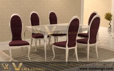 Luxury Chair Table Dining Set Milano