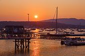Sunset showing yachts in Southwest Harbor, Maine. IMO, one of the absolute prettiest harbors in Maine!