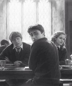Daniel Radcliff, Rupert Grint, Emma Watson (Half-Blood Prince)