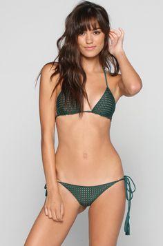 Acacia #Swimwear Humuhumu Mesh #Bikini Top in Seaweed/Topless // http://ss1.us/a/286LL11Y