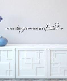 Black 'Always Be Thankful' Wall Quotes™ Decal
