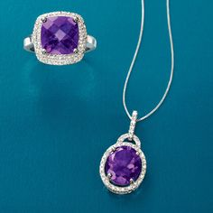 Whether you're seeking a February birthstone gift or celebrating the amethyst wedding anniversary (the 6th), you'll find an entrancing selection of amethyst jewelry here at Ross-Simons. >>Click the pin for more Amethyst Jewelry styles.