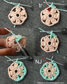North Sea Mandala - Free crochet pattern - by LillaBjornCrochet- # crochet # . North Sea Mandala – Free crochet pattern – by LillaBjornCrochet- # crochet Motif Mandala Crochet, Crochet Circles, Crochet Motifs, Crochet Flower Patterns, Freeform Crochet, Crochet Flowers, Crochet Stitches, Knitting Patterns, Rainbow Crochet