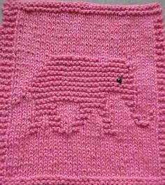 Knitted Elephant Cloth