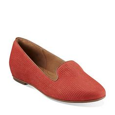 Valley Lounge in Red Nubuck - Womens Shoes from Clarks