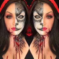 This Makeup Artist's 2-Faced Halloween Looks Will Make You Do a Double Take