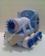TRAIN DIAPER CAKE!