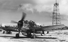 American fighter 'Hellcat' 534 th Fighter Squadron night before taking off from the airfield Orote (Orote) on the island of Guam. Navy Aircraft, Aircraft Photos, Ww2 Aircraft, Fighter Aircraft, Military Aircraft, Fighter Jets, Grumman F6f Hellcat, Airplane History, Aircraft Propeller