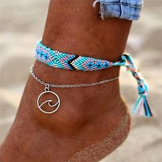 Ankle bracelets - AY Bohemian Crystal Beads Anklet Set For Women Moon Pendant Bracelet on the Leg Ankle Strap Girls Summer Anklets Foot Jewelry – Ankle bracelets Cute Jewelry, Jewelry Accessories, Jewelry Design, Jewelry Shop, Handmade Jewelry, Jewelry Making, Jewelry Trends, Jewelry Stores, Jewelry Art