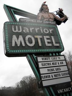 Awesome Warrior Motel sign
