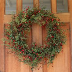 Marion Winter Berry Wreath 24 Inch - Outdoor Wreath That Lasts For Years, Versatile And Stunning Full Design For Entire Winter Season And Christmas, Beautiful White Gift Box And Hanging Loop Included