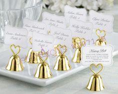 "beterwedding ""Kissing Bells"" Place Card/Photo Holder    #weddingideas #partyinspirations #partysupplies #bridalshower"