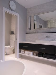 The Perfect Pearl - modern - bathroom - toronto - by NathalieTremblay - Atelier Cachet