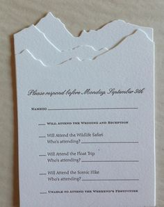 Cloud mountain farm wedding invitations