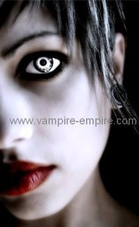vampire contact lenses. looks kind of like the host movies eyes