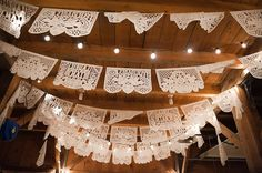 White Mexican Wedding Banner - 13 feet (10 panels) for $17.50