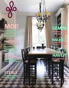 Can't Afford an Apartment in Paris? Steal These French Decor Ideas French Country Dining, French Country Cottage, French Country Decorating, French Kitchen, Country Kitchen, Counter Height Kitchen Table, Kitchen Floor, French Style Decor, French Apartment