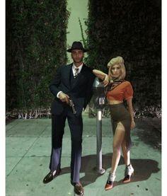 Kourtney Kardashian et Younes Bendjima en Bonnie & Clyde Couples Halloween, Cute Couple Halloween Costumes, Halloween Kostüm, Halloween Outfits, Diy Costumes, Costume Ideas, Celebrity Couple Costumes, Celebrity Halloween Costumes, Movie Couples Costumes