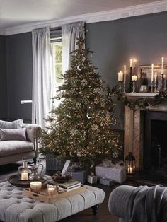 Spruce Christmas Tree, Dollar Store Christmas, Christmas Tree Crafts, Noel Christmas, Christmas Traditions, Christmas Decorations, Holiday Decor, White Christmas, The White Company