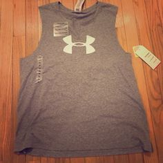 Under Armour tank Gray with white symbol Under Armour Tops Tank Tops