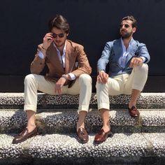 "dappergentsclub: "" #Pitti90 Dapper Duo @alfonso_defrancesco…"