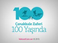 Vektörel Çizim | 18 Mart Çanakkale Zaferi 100 Yaşında