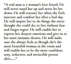 a real man is a woman's best friend