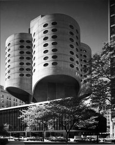 Bertrand Goldberg's Prentice Women's Hospital in Chicago. Currently under threat for demolition,  Frank Gehry and Jeanne Gang are among the sixty-some signatories of a letter to Chicago mayor Rahm Emmanuel, asking that the building be spared.