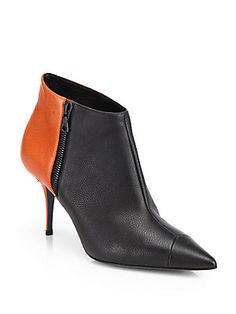 Narciso Rodriguez Bicolor Leather Ankle Boots $1,295