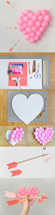 Day Carnival: DIY Balloon Pop Play Cupid with this Valentine's Day DIY Balloon Pop.Play Cupid with this Valentine's Day DIY Balloon Pop. Creative Valentines Day Ideas, Anti Valentines Day, Valentines Day Decorations, Valentine Day Crafts, Be My Valentine, Holiday Crafts, Valentine Party, Holiday Ideas, Christmas Decorations