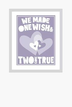 TWINS Baby Nursery Quotes about Twins Poster Fine Art Print. $18.00, via Etsy. | best stuff