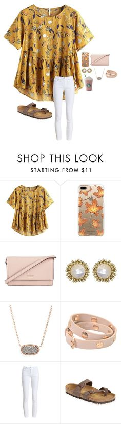 """Untitled #173"" by sophieclairet ❤️ liked on Polyvore featuring Casetify, Kate Spade, Kendra Scott, Tory Burch, Barbour and Birkenstock"