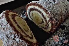 Čokoládová roláda s tvarohem a banánem   NejRecept.cz Croatian Recipes, Cake & Co, Something Sweet, Food Pictures, Cake Decorating, French Toast, Food And Drink, Dessert Recipes, Low Carb