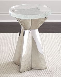 Uma+Stainless+Steel+&+Glass+Side+Table++by+Bernhardt+at+Horchow.