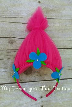 Poppy trolls headband Princess Poppy headband trolls