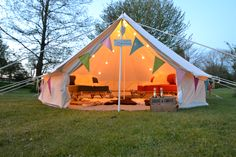 Cosy glamping bell tent.