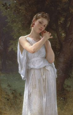Earrings (1891) - Realism painting byWilliam-Adolphe Bouguereau