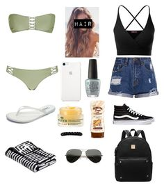 """Beach #2🌊"" by amarianamichelle ❤ liked on Polyvore featuring Tkees, Doublju, Victoria's Secret, Vans, OPI, Ray-Ban, trinity, springbreak and Spring2017"